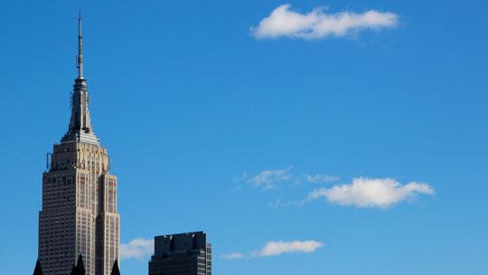 Das Empire State Bulding dominiert immer noch die Stadt.