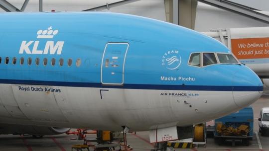Eine Boing 777 der KLM.
