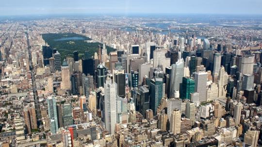 Blick auf Midtown Manhattan und den Centralpark.