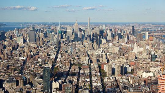 Der Blick auf Manhattan vom One World Observatory