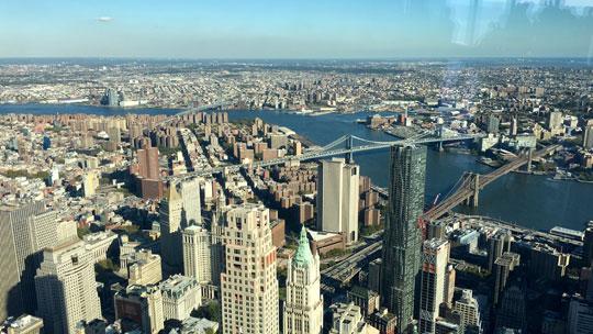 Drei New Yorker Brücken: Wiliamsburg-, Manhattan- und Brooklyn-Bridge