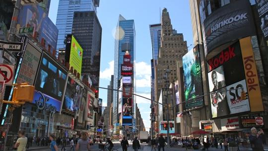 Der Timesquare mitten in Manhattan.