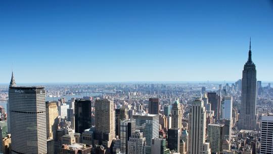 Blick auf Midtown und das Empire State Building.